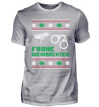 Polizist Polizei Shirt Frohe Weihnachten
