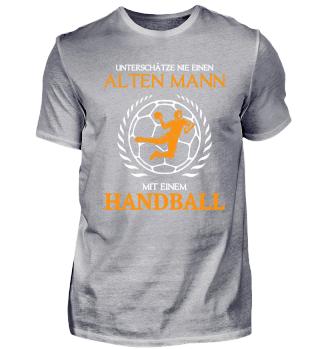 Handball einen alten Mann
