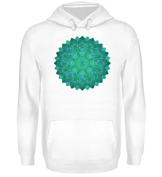 ♥ Sri Yantra Mandala - blue green