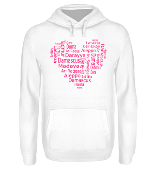 Syria Heart Towns Hoodies & Sweater