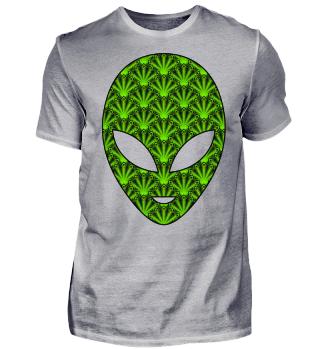 Ethnic Feather Mandala - Green Alien