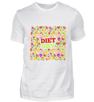Diet Day Shirt Food Healthy Fitness