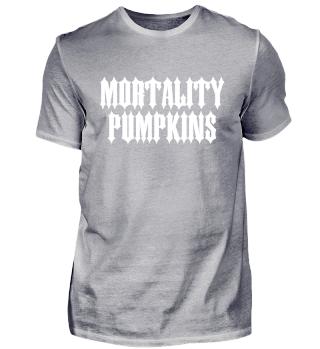 Mortality Pumpkins - Fake Metal Shirt