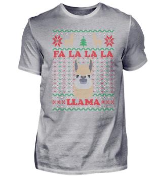 Falalala Llama Ugly Christmas Song Pun