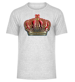 Royal Cross Crown - Gold Blue Red