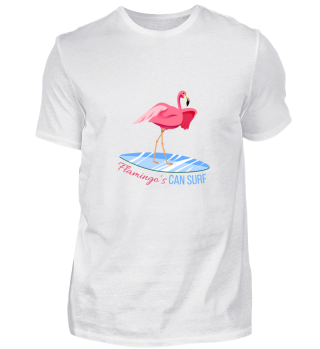 Flamingo can surf
