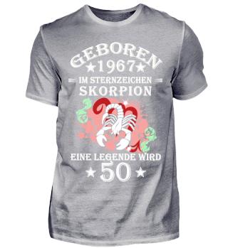 Sternzeichen Skorpion wird 50