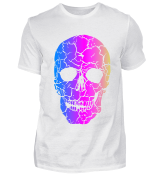 Skull splitted in color peaces Halloween