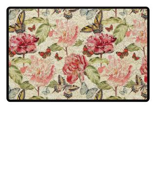 ★ Vintage Flowers Butterflies Lace 1