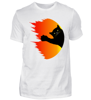 Halloween cat Shirt - fireball