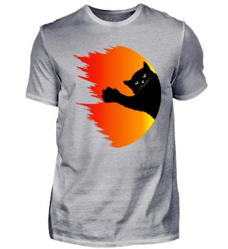 Halloween cat Shirt - fireball