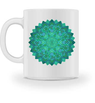 ♥ Sri Yantra Mandala - blue green