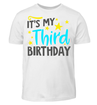 Baby Kid Boy Third Birthday