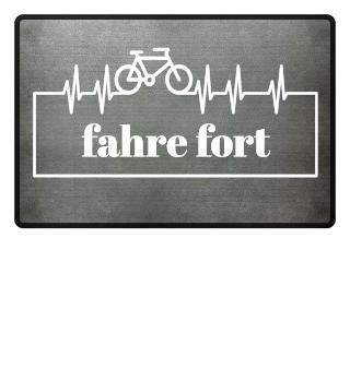 Herzrhythmus Kurve Fahrrad II - weiss 2