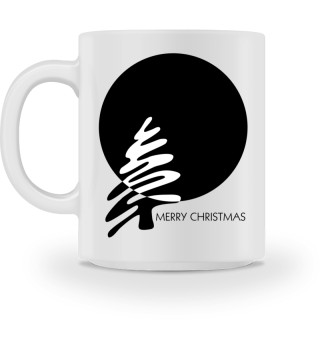 Merry Christmas - stylish black white