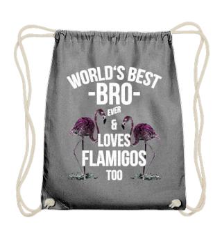 World's Best Bro & Loves Flamingos