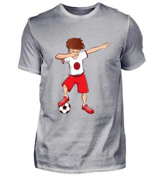 Dabbing Japan Fussballer T-Shirt