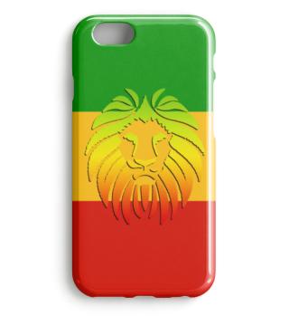 Rastafari Lion Flag green yellow red II
