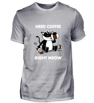 Coffeejunkie Cat Kaffee Junkie Katze