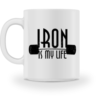 IRON is my life - dumbbells black