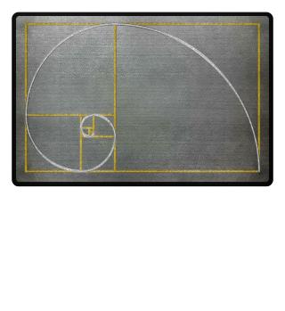 ★ Fibonacci Spiral - gold silver 2a