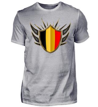 Belgien-Belgium Wappen Flagge 014