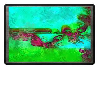 Art Deco Grunge Flowers Wallpaper IIIa