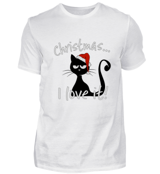 I love christmas grumpy cat gift Katze