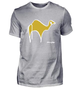 Camel desert safari colorful animal art