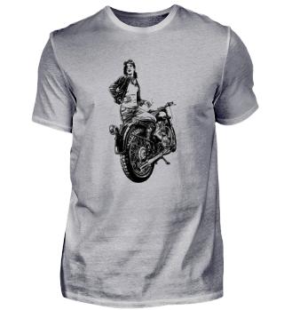 Motorrad-Girl
