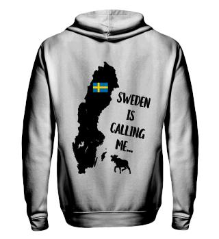 Schweden Urlaub Spruch Unisex Hoodie