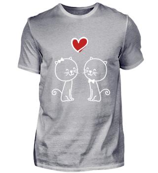 Katzen Liebe Geschenk Herz Valentinstag