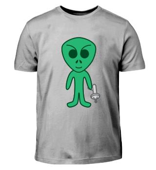 Alien mit Waffe | Raumfahrt