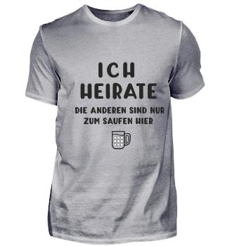 Bräutigam T-Shirt Junggesellenabschied