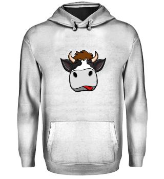 Landwirtschaft · Kuh mit der Zunge