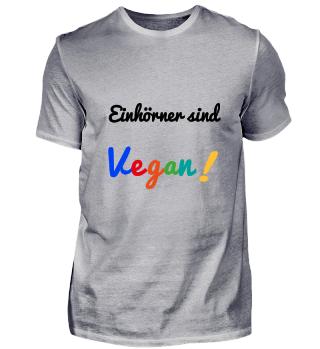 Einhörner sind Vegan! - Geschenkidee