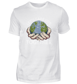 Let's Care Our Earth Together Eco Vintag
