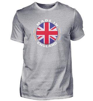 Made In England Vintage design British Flag