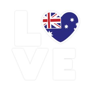 I love LOVE Australia Flag Flag Heart