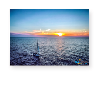 7seas segelnd auf dem Atlantik - Poster A3