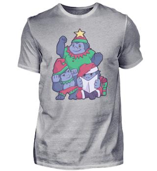 Gorilla Affe Weihnachtsbaum Weihnachten