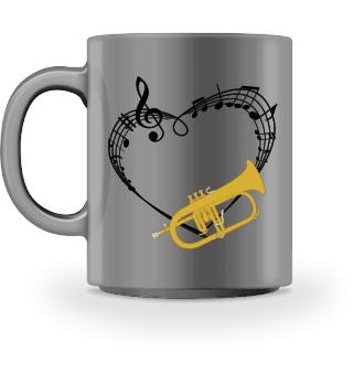 Für Flügelhorn Musiker im Orchester