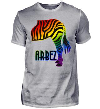 ARBEZ Zebra von Hinten - regenbogen