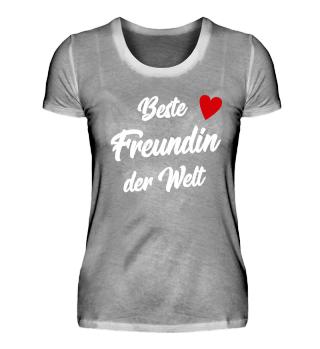 Beste Freundin der Welt Geschenk T-Shirt