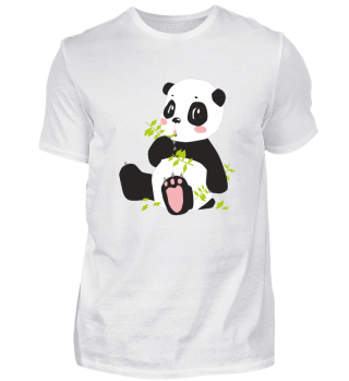 Pandabär Panda Bär mit Rosa Tazen