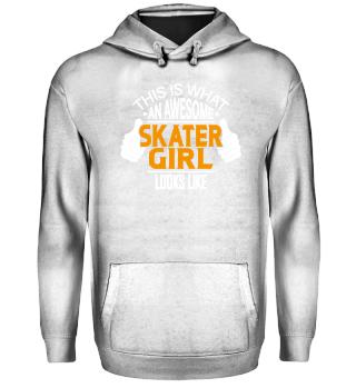 Skater Girl Skating Skate T-Shirt Gift