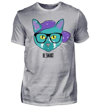 Hipster Cat Summer Beach Cap Glasses 2