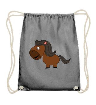 Pferd 1 lachend farbig Extras