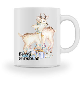 ♥ MERRY CHRISTMAS · DEER #10AT