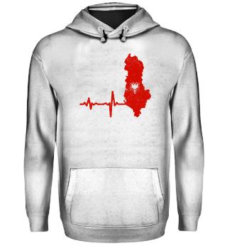 Heartbeat Albania silhouette gift